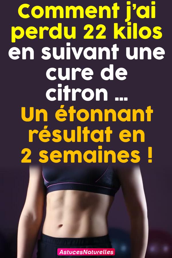 Comment j'ai perdu 22 kilos en suivant une cure de citron…Un étonnant résultat en 2 semaines !
