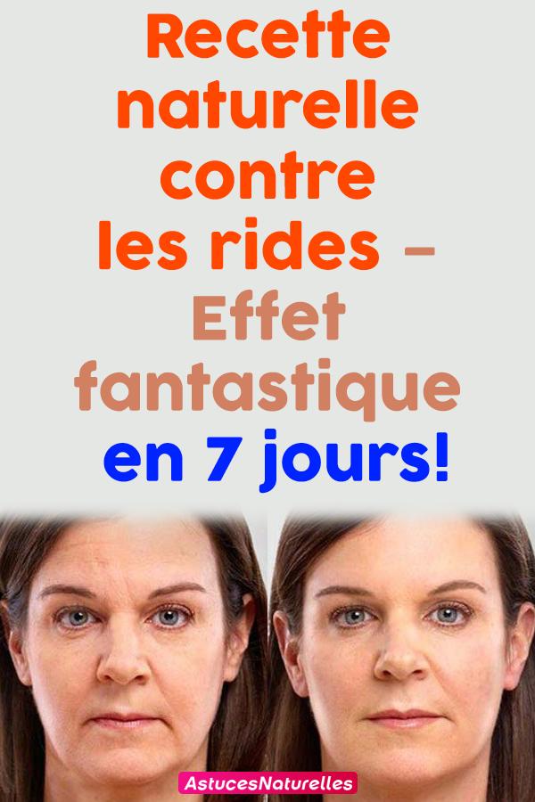 Recette naturelle contre les rides – Effet fantastique en 7 jours !