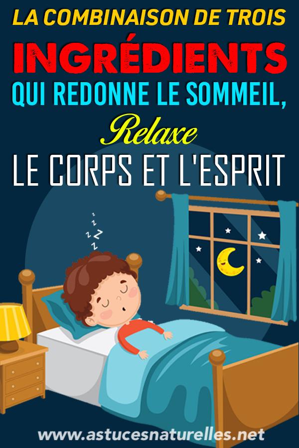 Avalez ceci…Cédez au sommeil presque immédiatement…Restez endormi plusieurs heures et réveillez-vous en parfaite santé !