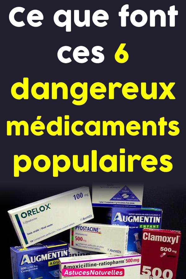 Ce que font ces 6 dangereux médicaments populaires