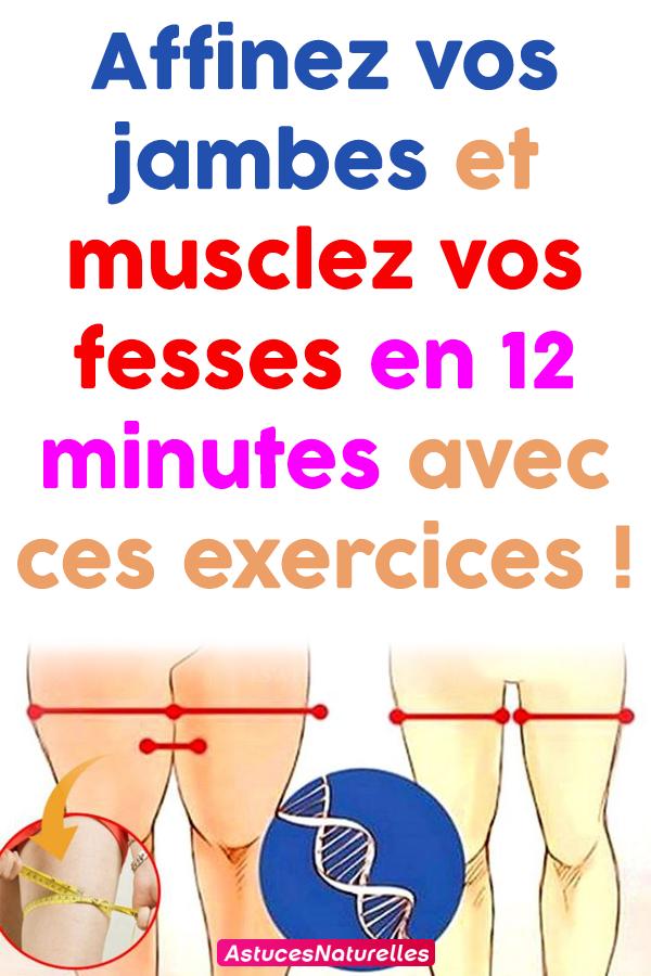 Affinez vos jambes et musclez vos fesses en 12 minutes avec ces exercices !