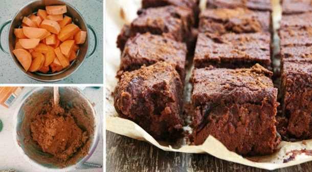 brownies anti inflammatoires 5 ingr dients la patate douce beurre d amande cacao et sirop. Black Bedroom Furniture Sets. Home Design Ideas
