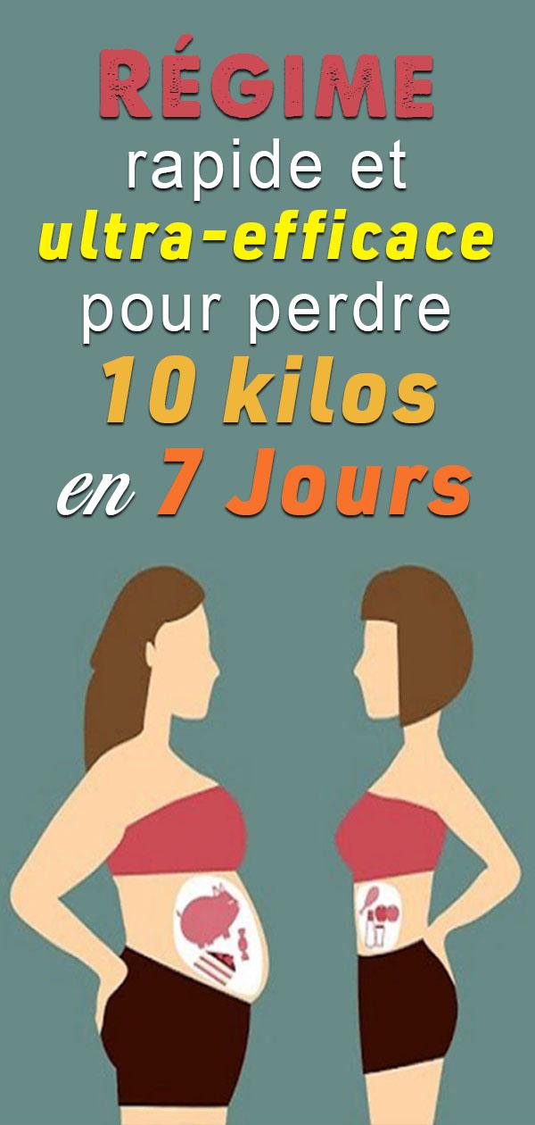Régime rapide et ultra-efficace : perdez 10 kilos en 7 Jours