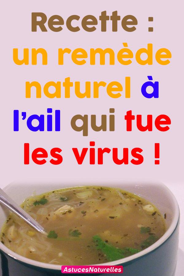 Recette : un remède naturel à l'ail qui tue les virus !