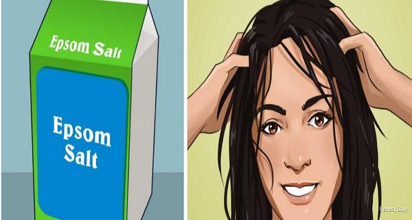 si vous frottez le sel d 39 epsom sur vos cheveux vous vous n 39 allez pas le regretter. Black Bedroom Furniture Sets. Home Design Ideas