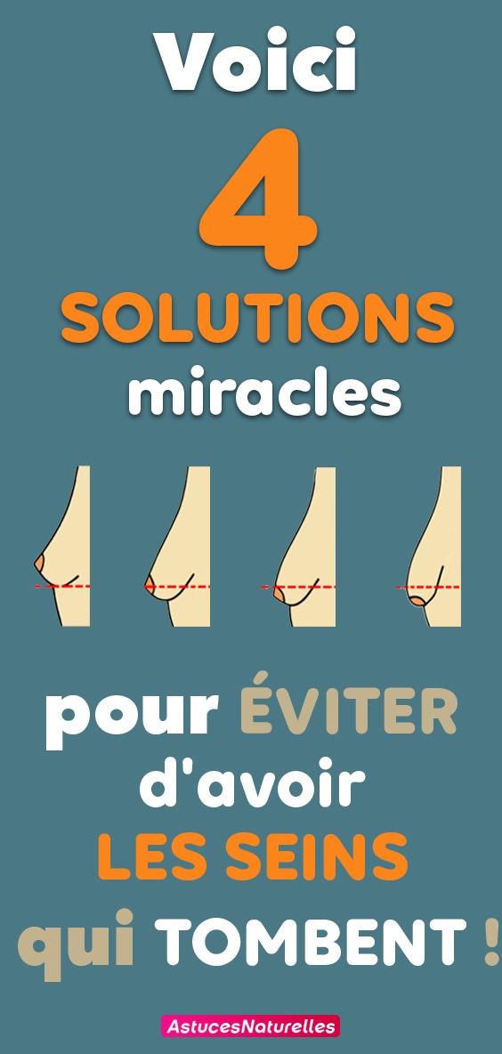 Des seins de rêve sans chirurgie ? Voici 4 solutions miracles pour éviter d'avoir les seins qui tombent !