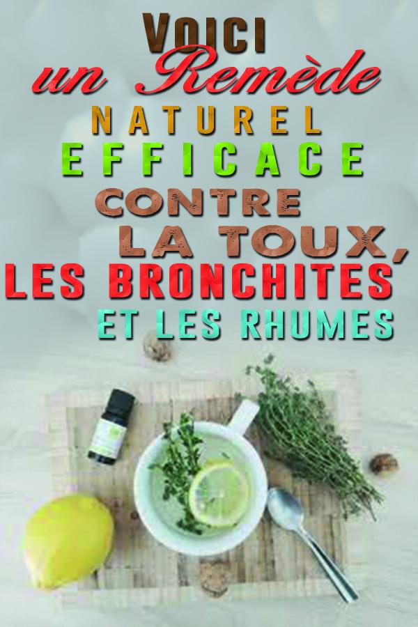 Le remède naturel et efficace pour ne plus jamais souffrir ni de toux, ni de laryngite ni de bronchite !