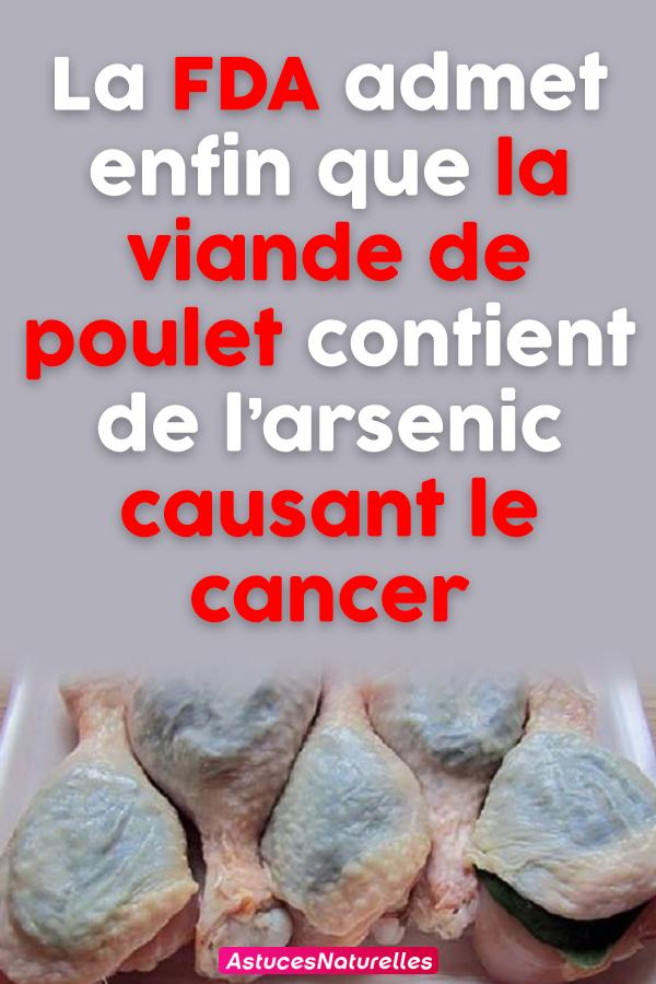 La FDA admet enfin que la viande de poulet contient de l'arsenic causant le cancer
