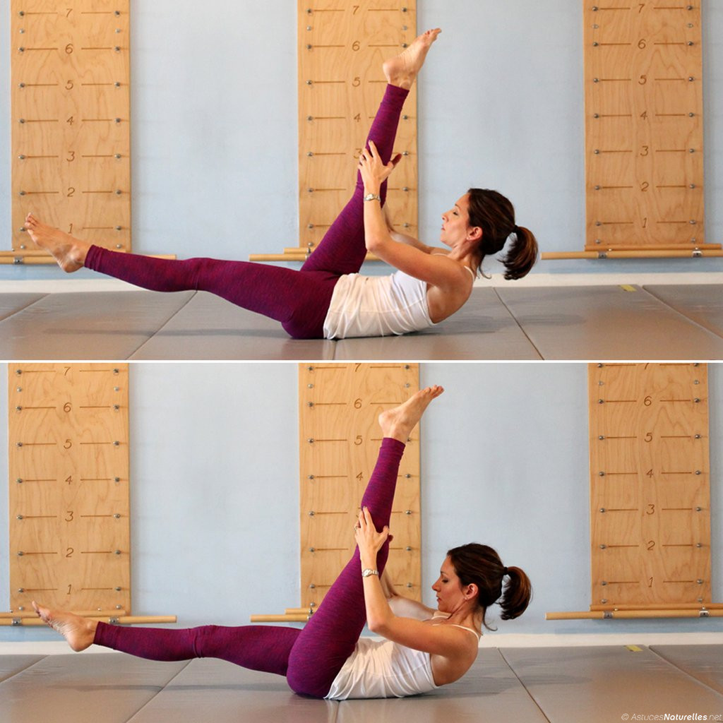single-straight-leg-stretch