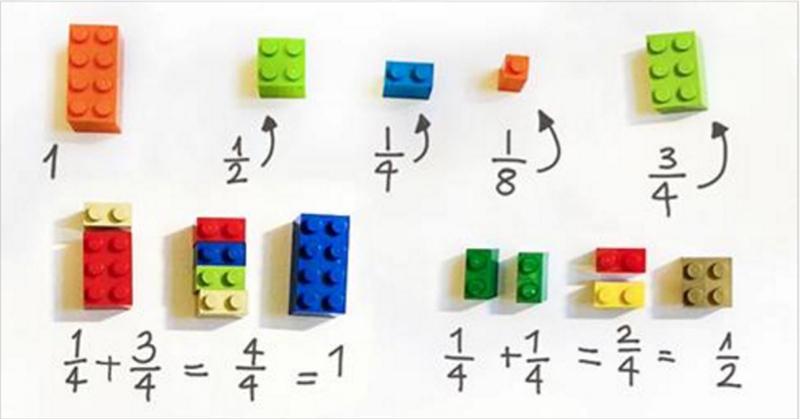 Vraiment brillant ! Une enseignante utilise les LEGO pour expliquer les mathématiques aux enfants !