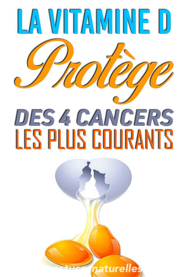 C'est la Vitamine qui nous protège des 4 cancers les plus courants … (Celui du sein, de la prostate, du côlon et de la peau !)