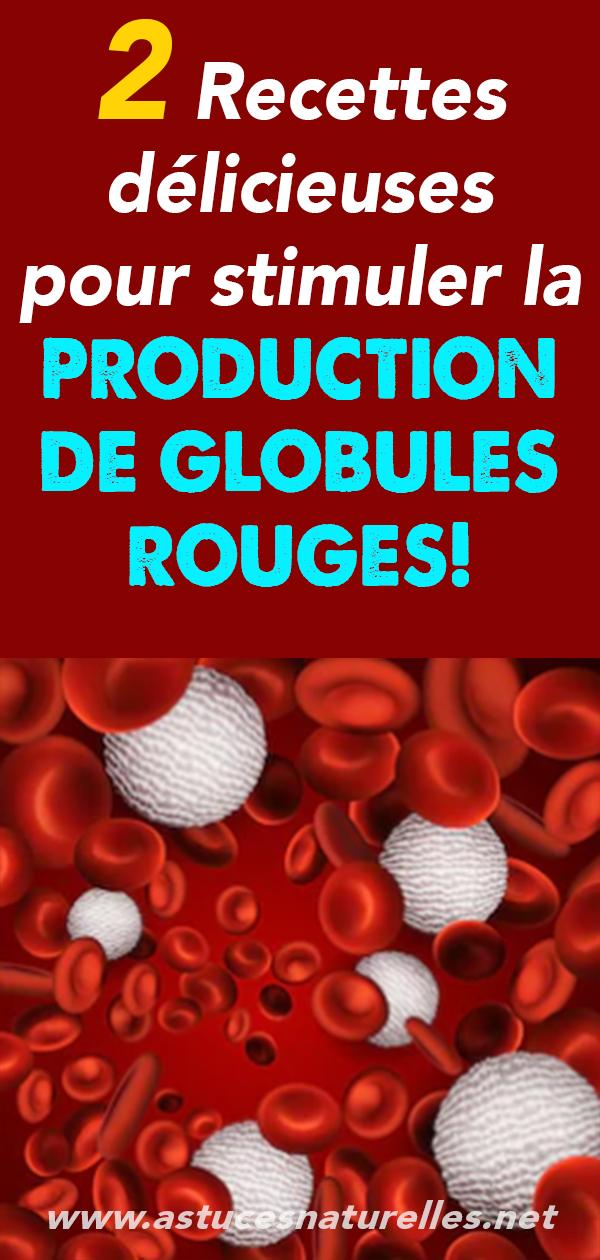 2 Recettes délicieuses pour stimuler la PRODUCTION DE GLOBULES ROUGES!