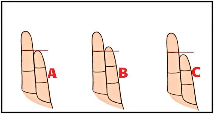 Ce que révèle le positionnement de votre auriculaire par rapport à l'annulaire.
