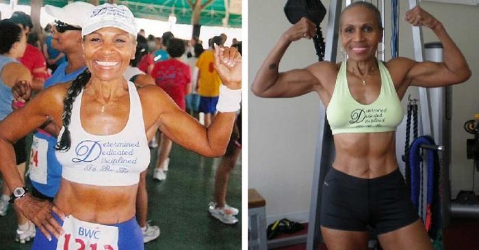 Une bodybuilder de 80 ans partage le secret de son incroyable physique avec le monde.
