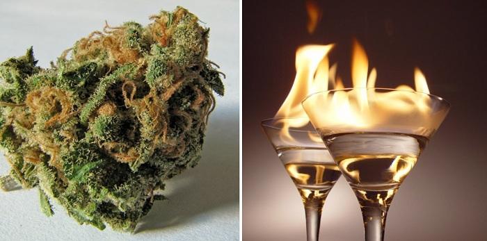 Une nouvelle étude a révélé que l'alcool nuit plus au cerveau que le cannabis.