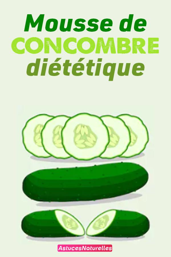 Mousse de concombre diététique