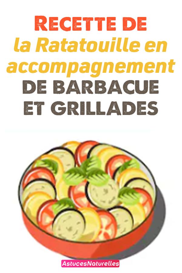 Recette de la Ratatouille en accompagnement de barbacue et grillades.