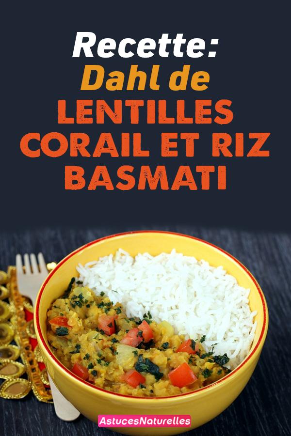 Recette: Dahl de lentilles corail et riz basmati