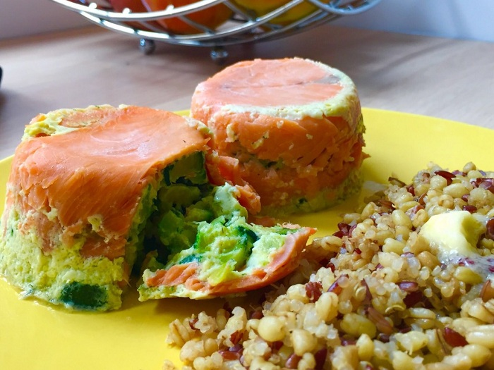 Timbale de saumon à la mousse de courgettes, un véritable régal !