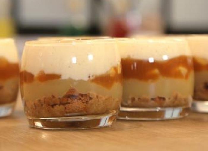 Recette de tiramisu pomme caramel beurre salé pour accompagner vos repas !