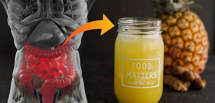Fortifiant pour l'intestin au curcuma et au gingembre pour lutter contre les problèmes stomacaux.