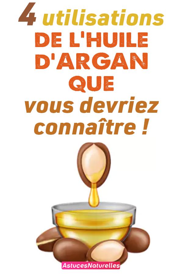 4 utilisations de l'huile d'ARGAN que vous devriez connaître !
