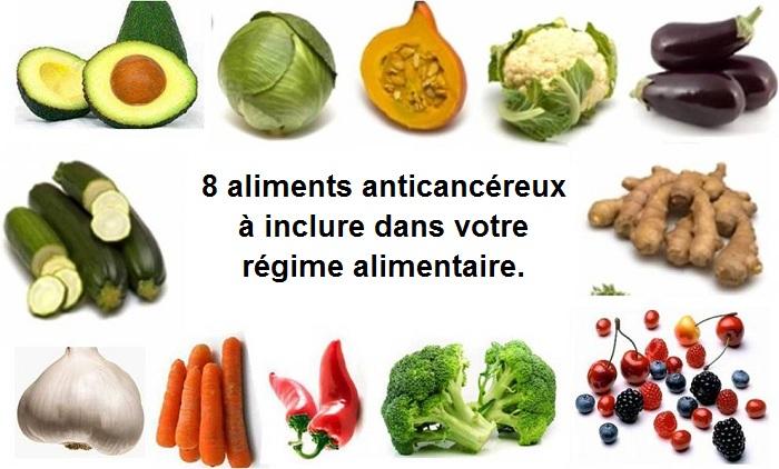 8 aliments anticancéreux à inclure dans votre régime alimentaire.