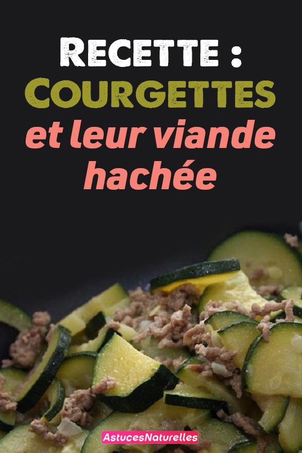 Recette : Courgettes et leur viande hachée