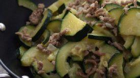 Courgettes et leur viande hachée