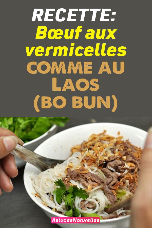Recette: Bœuf aux vermicelles comme au Laos (bo bun)