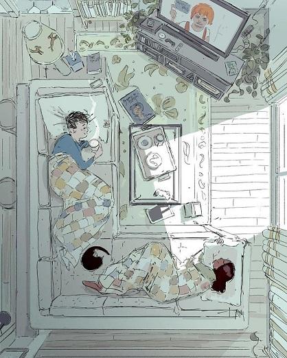 Ce mari illustre sa vie quotidienne avec sa femme, prouvant que l'amour et le bonheur réside dans les plus simples habitudes !