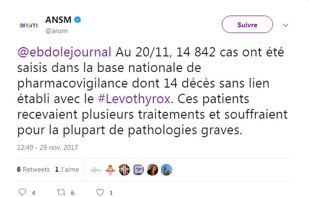 14 patients tués par Levothyrox? Une affaire étudiée par l'ANSM !