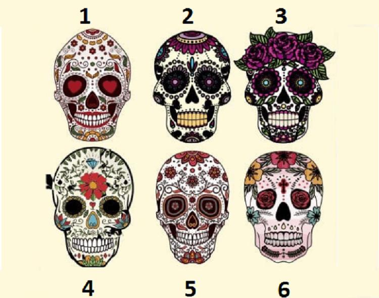 Choisissez un crâne de sucre pour voir ce qu'il révèle sur votre personnalité