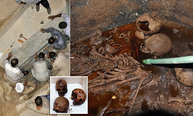 Les gens veulent boire un «liquide rouge» à l'intérieur d'un sarcophage vieux de 2000 ans