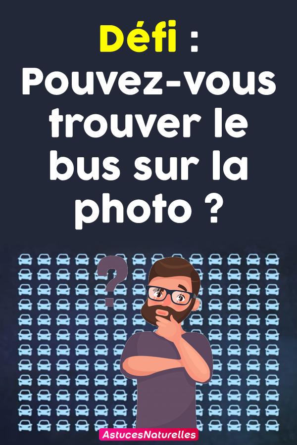 Défi : Pouvez-vous trouver le bus sur la photo ?