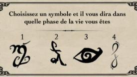 Choisissez un symbole et il vous dira dans quelle phase de la vie vous êtes