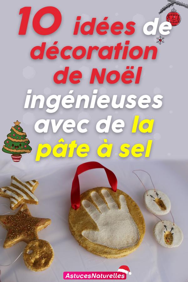 10 idées de décoration de Noël ingénieuses avec de la pâte à sel