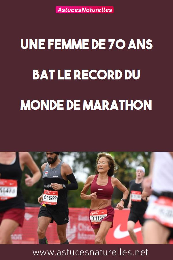 Une femme de 70 ans bat le record du monde de marathon