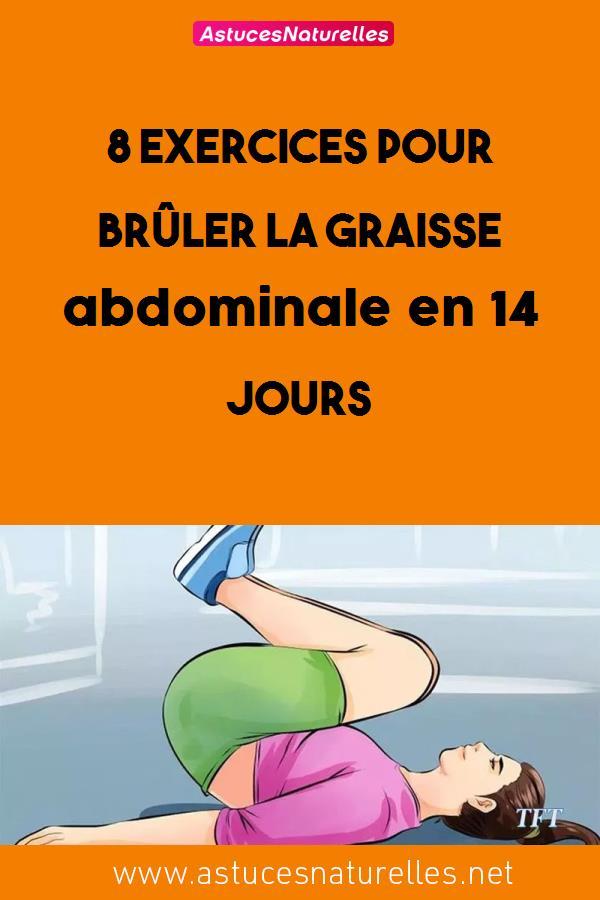 8 exercices pour brûler la graisse abdominale en 14 jours