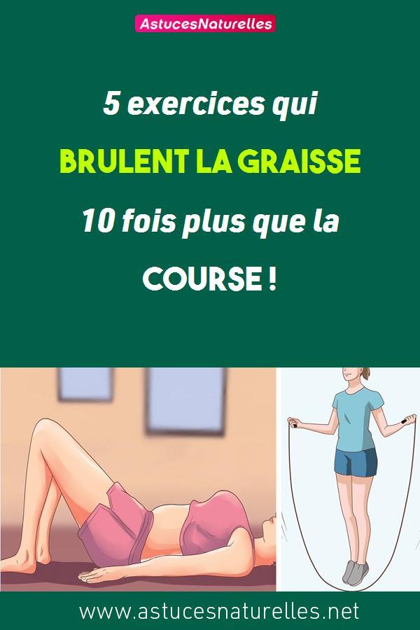 5 exercices qui brulent la graisse 10 fois plus que la course !