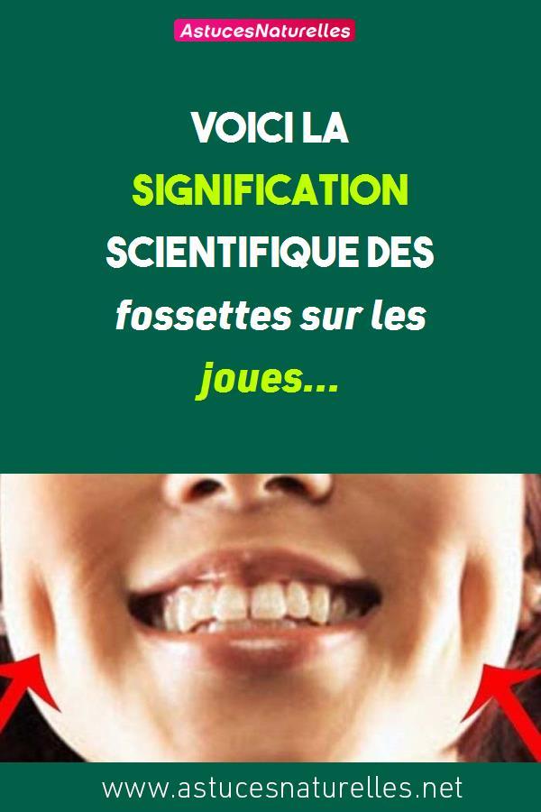 Voici la SIGNIFICATION SCIENTIFIQUE des fossettes sur les joues…
