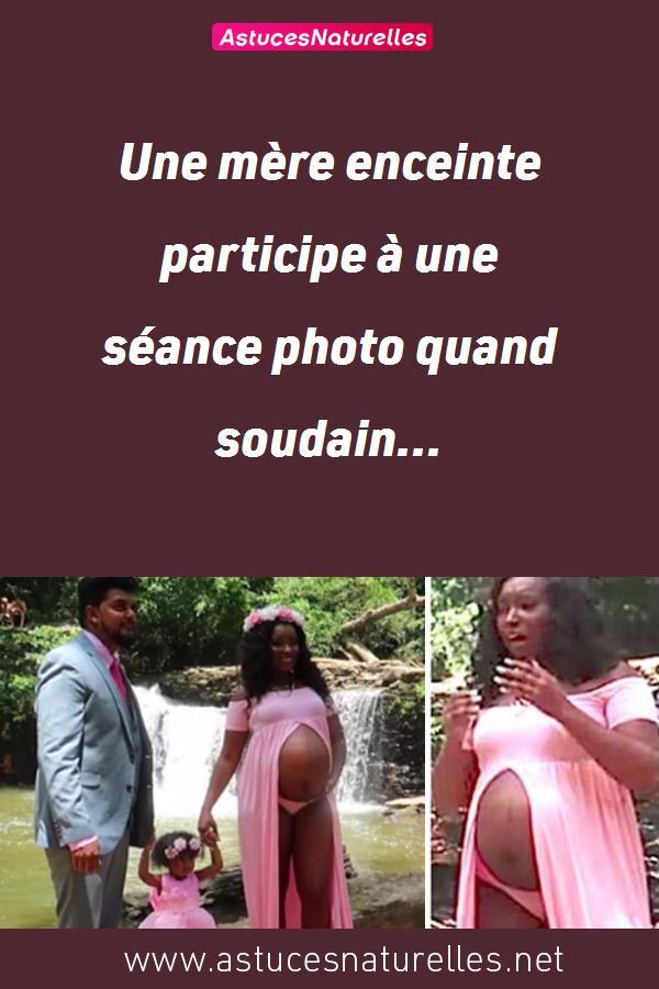 Une mère enceinte participe à une séance photo quand soudain…