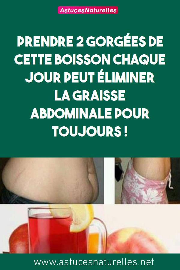 Prendre 2 gorgées de cette boisson chaque jour peut éliminer la graisse abdominale pour toujours !