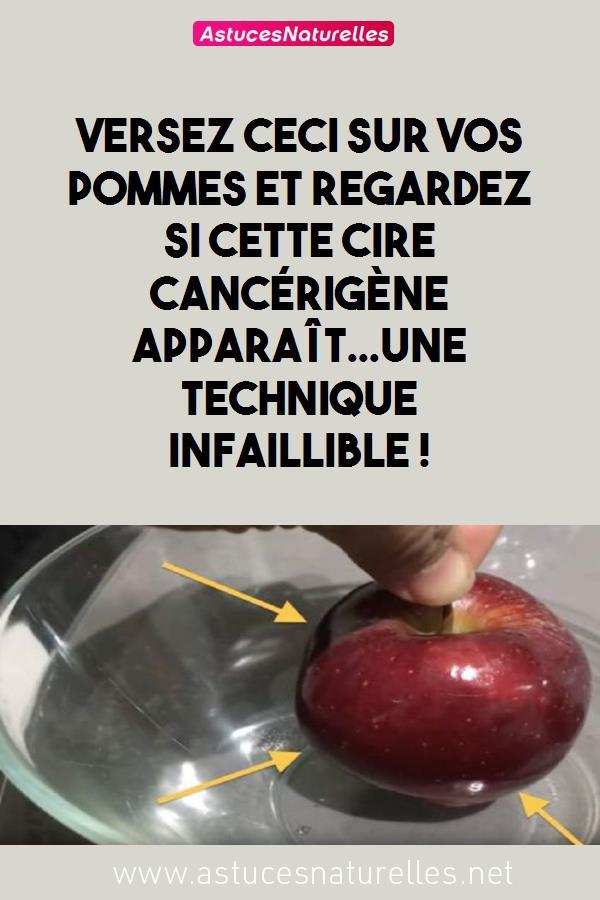 Versez CECI sur vos pommes et regardez si cette cire cancérigène apparaît…Une technique Infaillible !