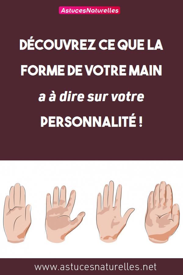 Découvrez ce que la forme de votre main a à dire sur votre personnalité !