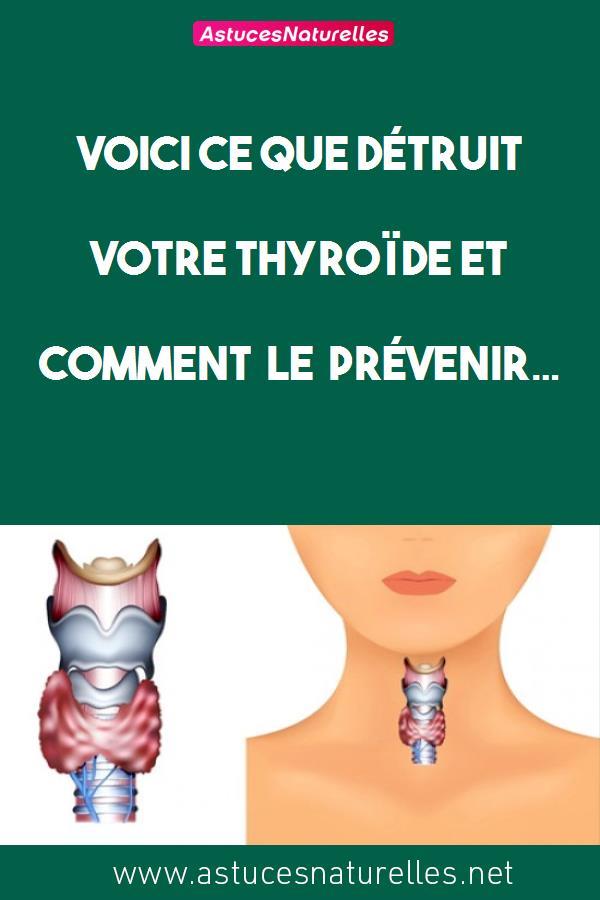 Voici ce que détruit votre thyroïde et comment le prévenir…