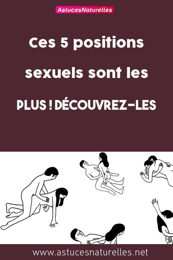 Ces 5 positions sexuels sont les plus  ! Découvrez-les