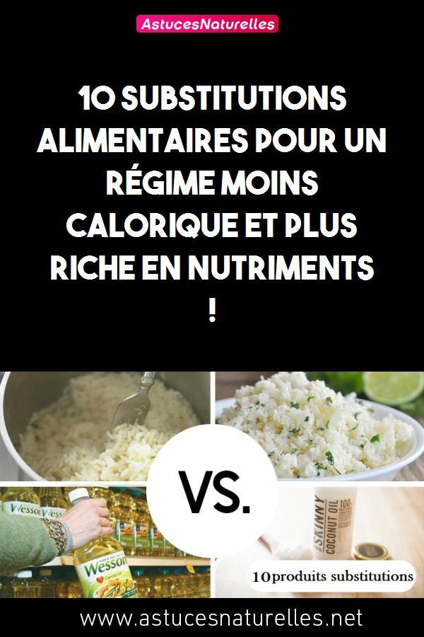 10 substitutions alimentaires pour un régime moins calorique et plus riche en nutriments !