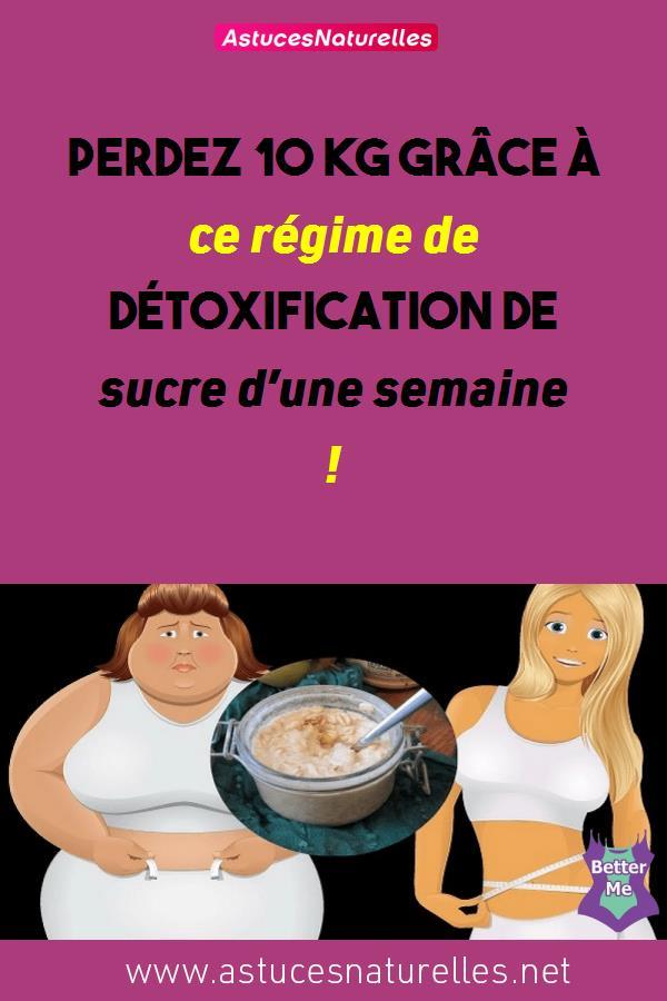 Perdez 10 kg grâce à ce régime de détoxification de sucre d'une semaine !