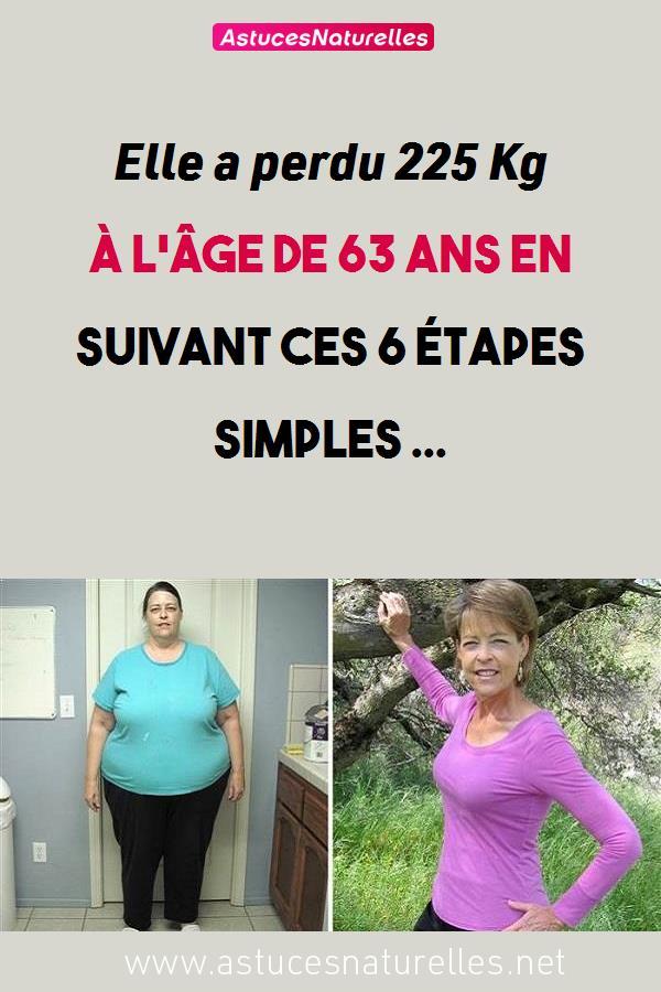 Elle a perdu 225 Kg à l'âge de 63 ans en suivant ces 6 étapes simples …